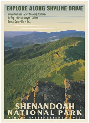 Snp Retro Poster Shenandoah National Park Association