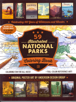 Photo of 59 National Park Coloring Book