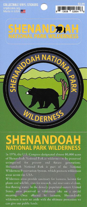 Photo of SNP Wilderness Decal