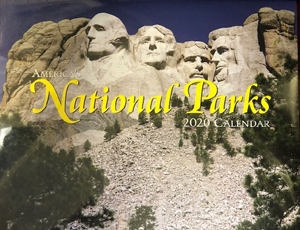 2020 America National Park Calendar with Mt Rushmore Cover
